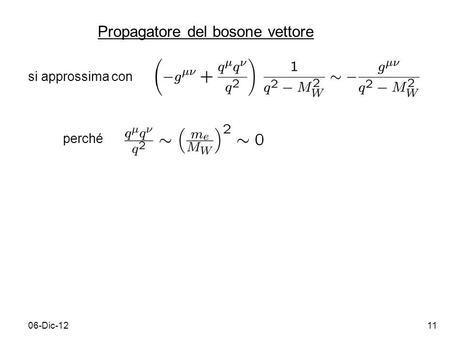 Propagatore del bosone vettore