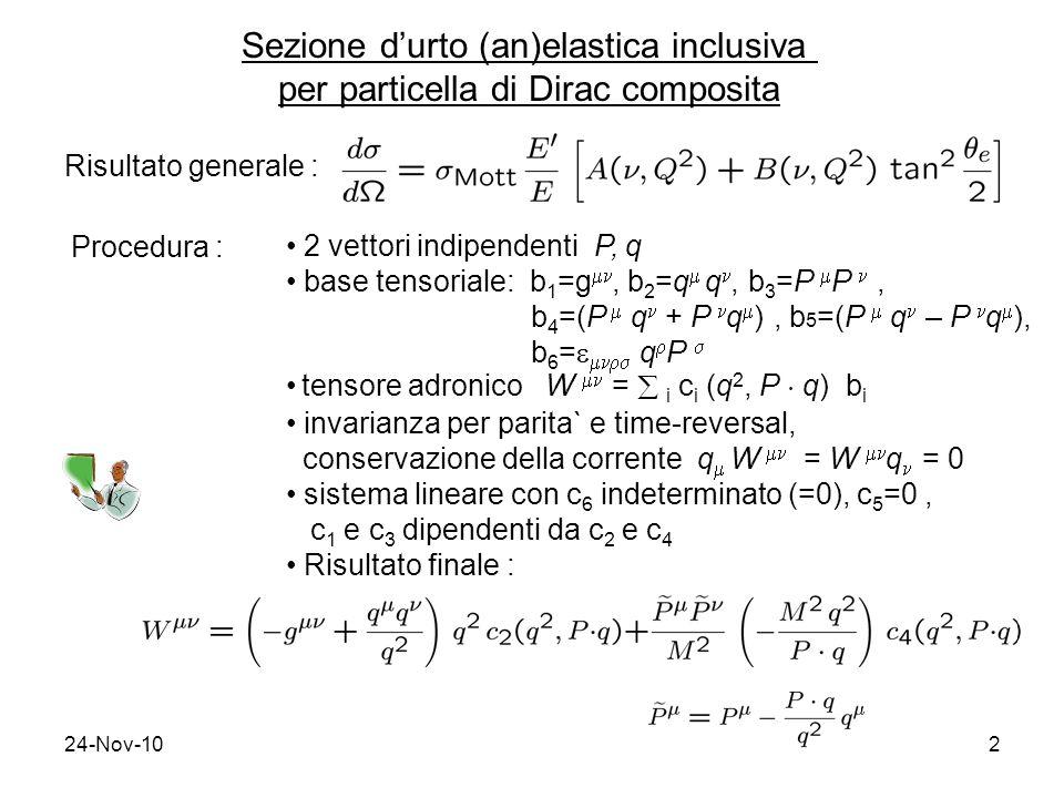 Sezione d'urto (an)elastica inclusiva