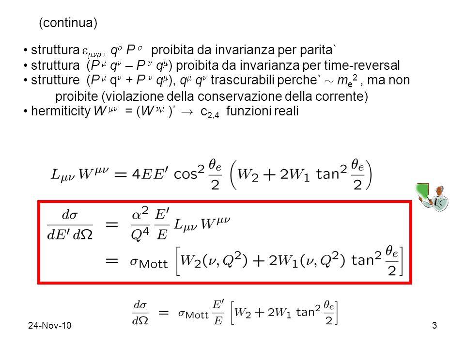 struttura  q P  proibita da invarianza per parita`