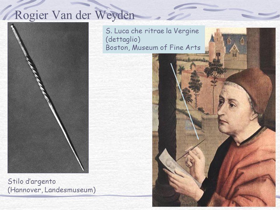 Rogier Van der Weyden S. Luca che ritrae la Vergine (dettaglio)