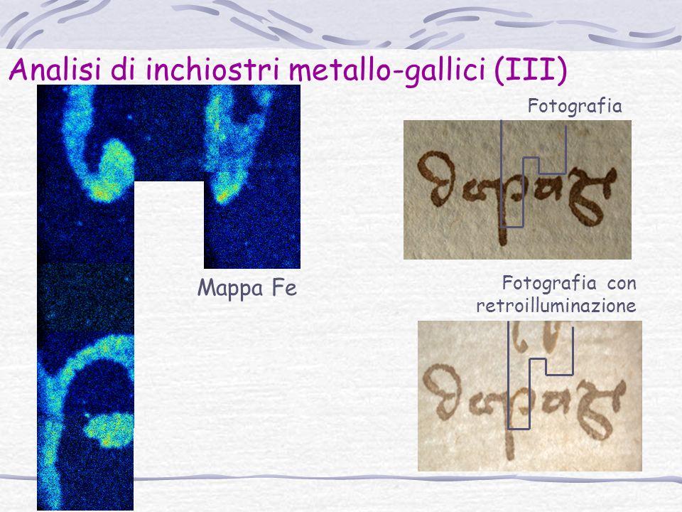 Analisi di inchiostri metallo-gallici (III)
