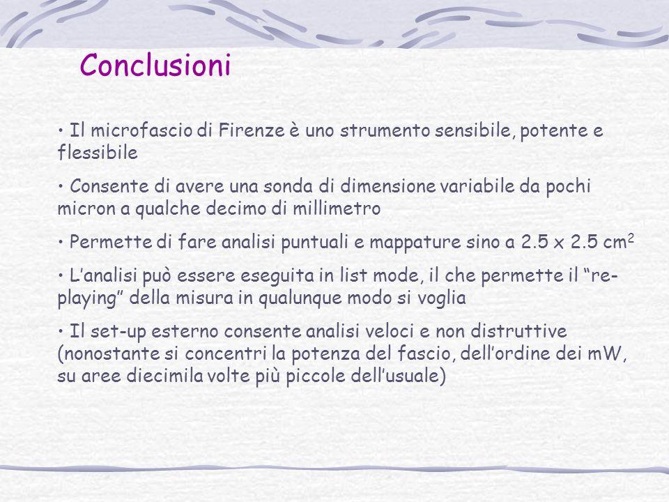 Conclusioni Il microfascio di Firenze è uno strumento sensibile, potente e flessibile.