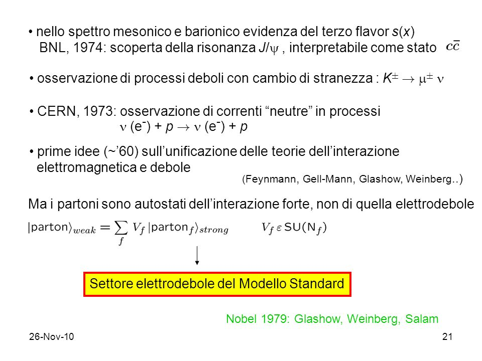 nello spettro mesonico e barionico evidenza del terzo flavor s(x)