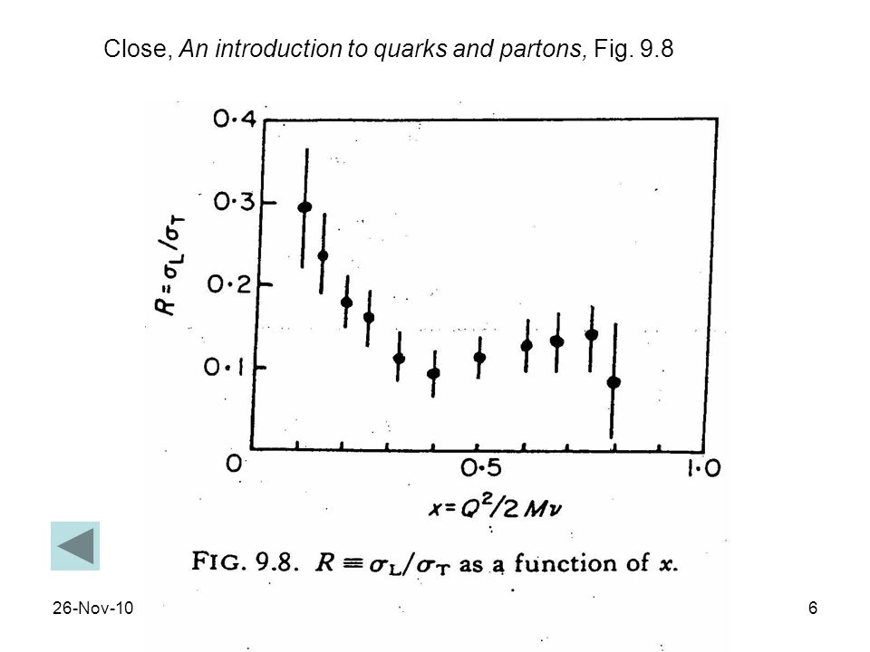 Close, An introduction to quarks and partons, Fig. 9.8