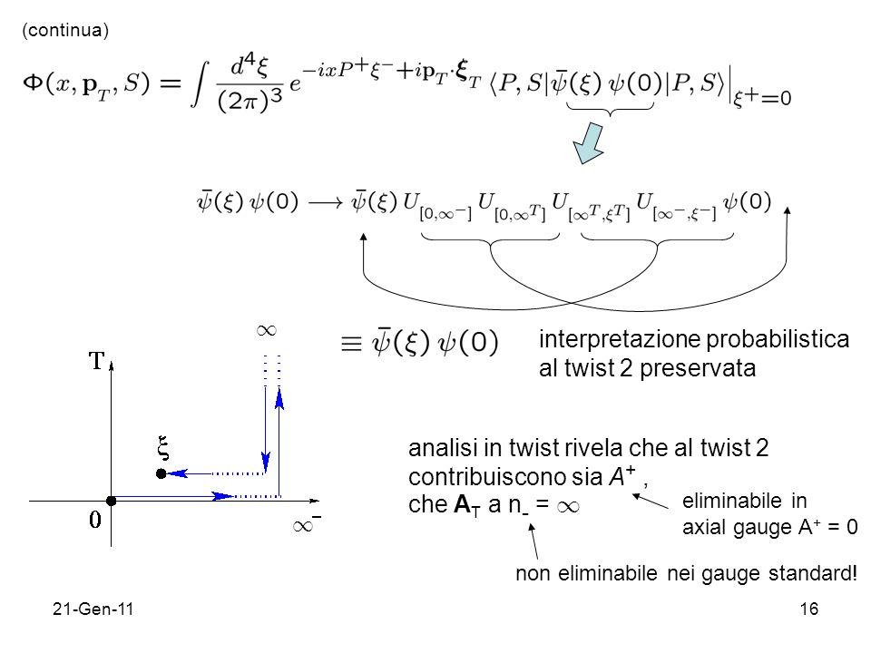 interpretazione probabilistica al twist 2 preservata