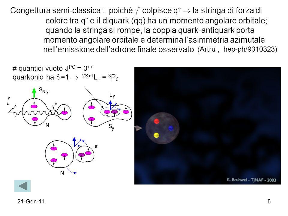 colore tra q e il diquark (qq) ha un momento angolare orbitale;