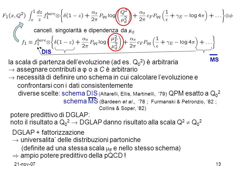 la scala di partenza dell'evoluzione (ad es. Q02) è arbitraria