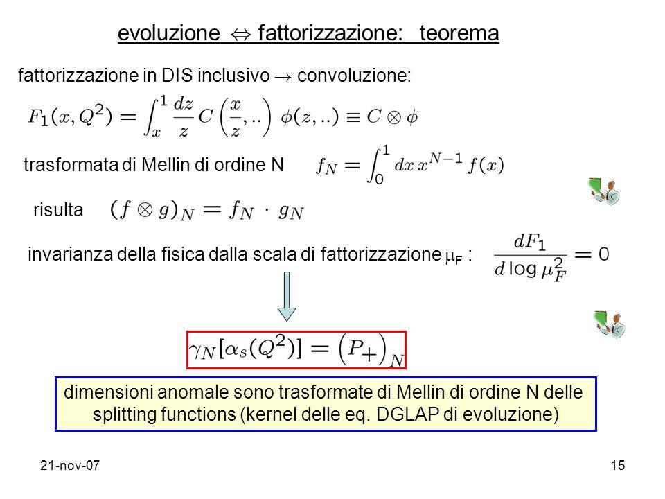 evoluzione , fattorizzazione: teorema