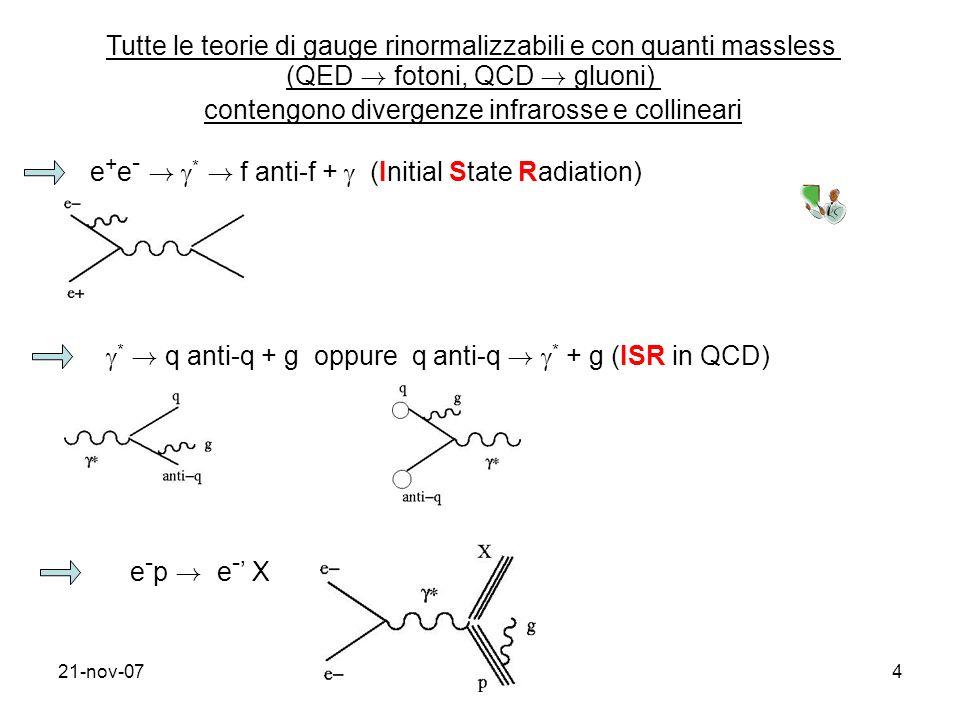 Tutte le teorie di gauge rinormalizzabili e con quanti massless