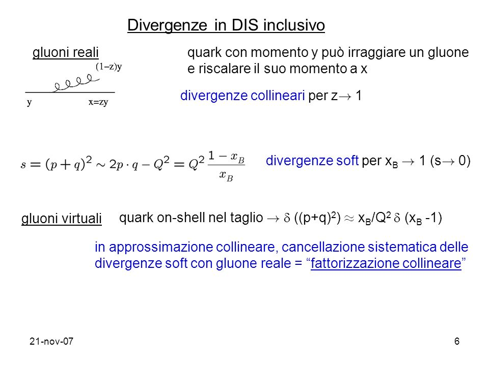 Divergenze in DIS inclusivo