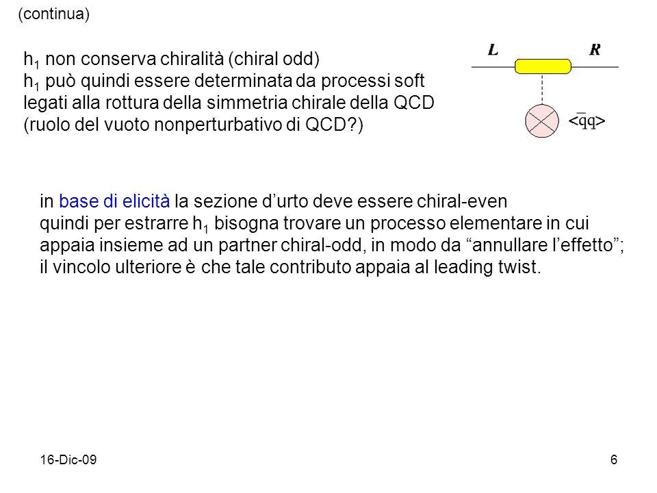 h1 non conserva chiralità (chiral odd)