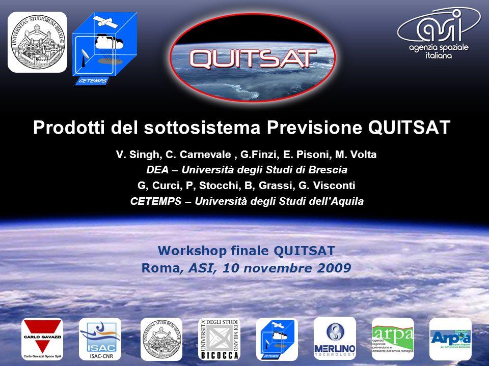 Prodotti del sottosistema Previsione QUITSAT