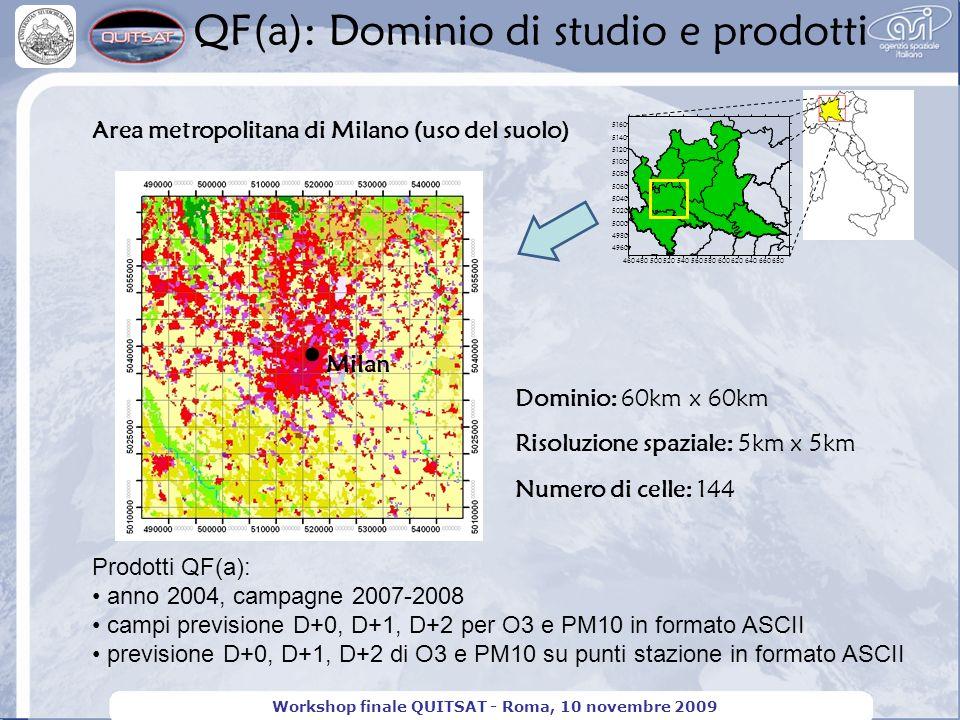 Workshop finale QUITSAT - Roma, 10 novembre 2009