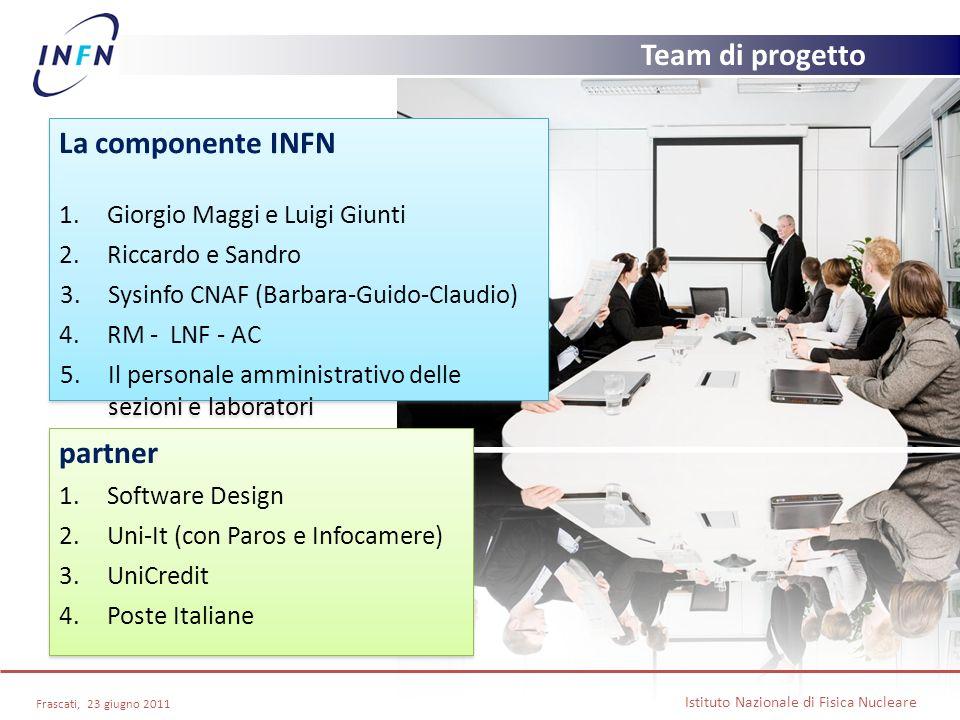 Team di progetto La componente INFN partner