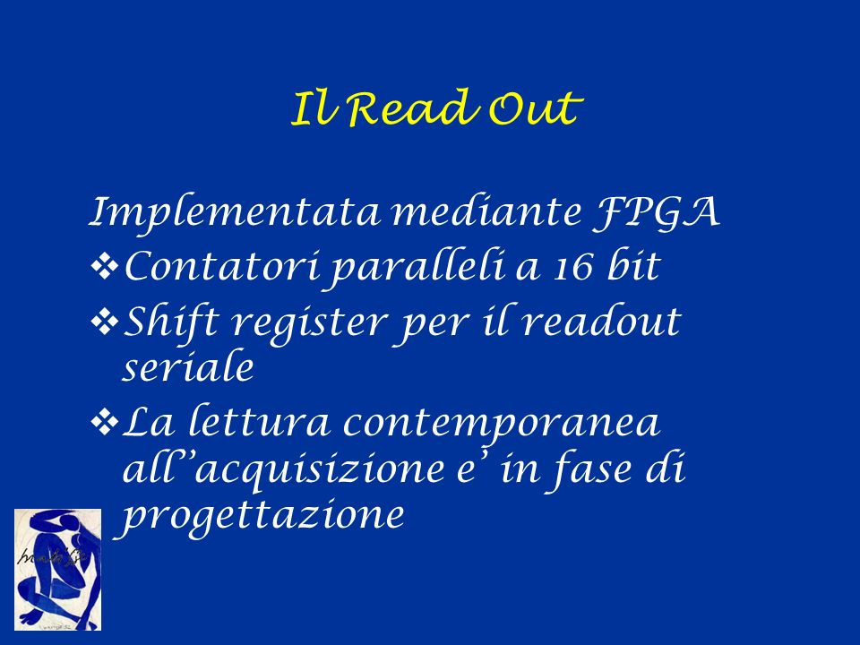 Il Read Out Implementata mediante FPGA Contatori paralleli a 16 bit