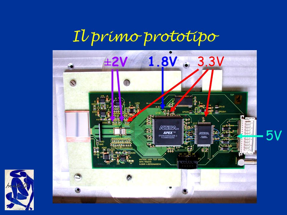 Il primo prototipo 3.3V ±2V 1.8V 5V