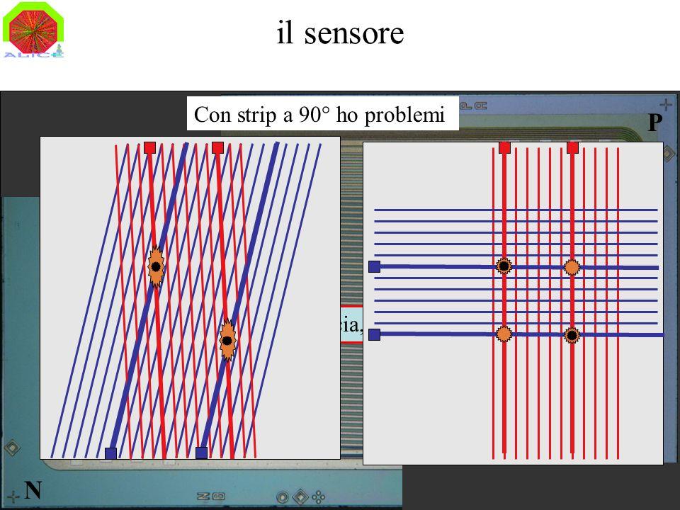 il sensore P N Con strip a 90° ho problemi