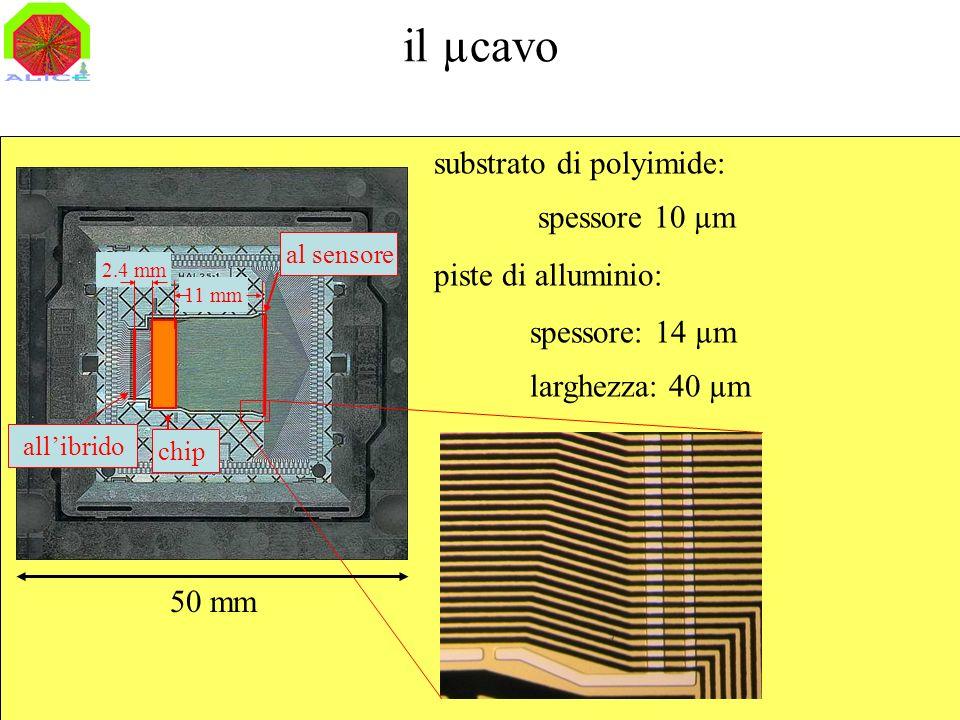 il µcavo µcable substrato di polyimide: spessore 10 µm
