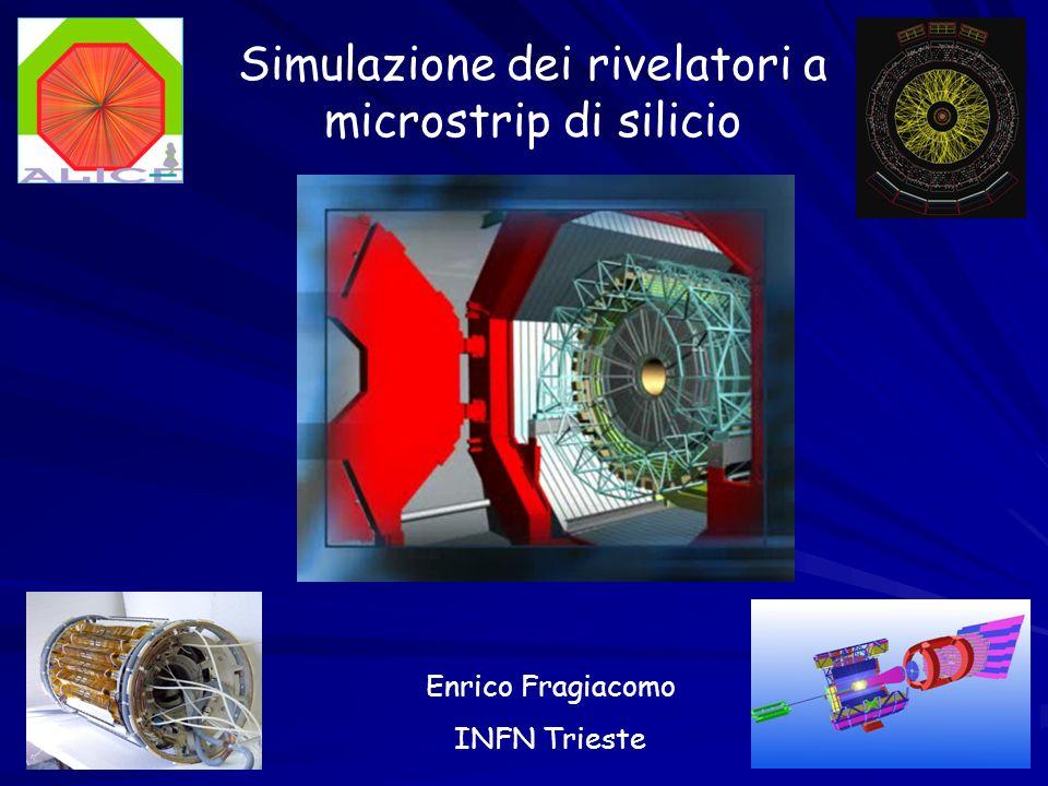 Simulazione dei rivelatori a microstrip di silicio