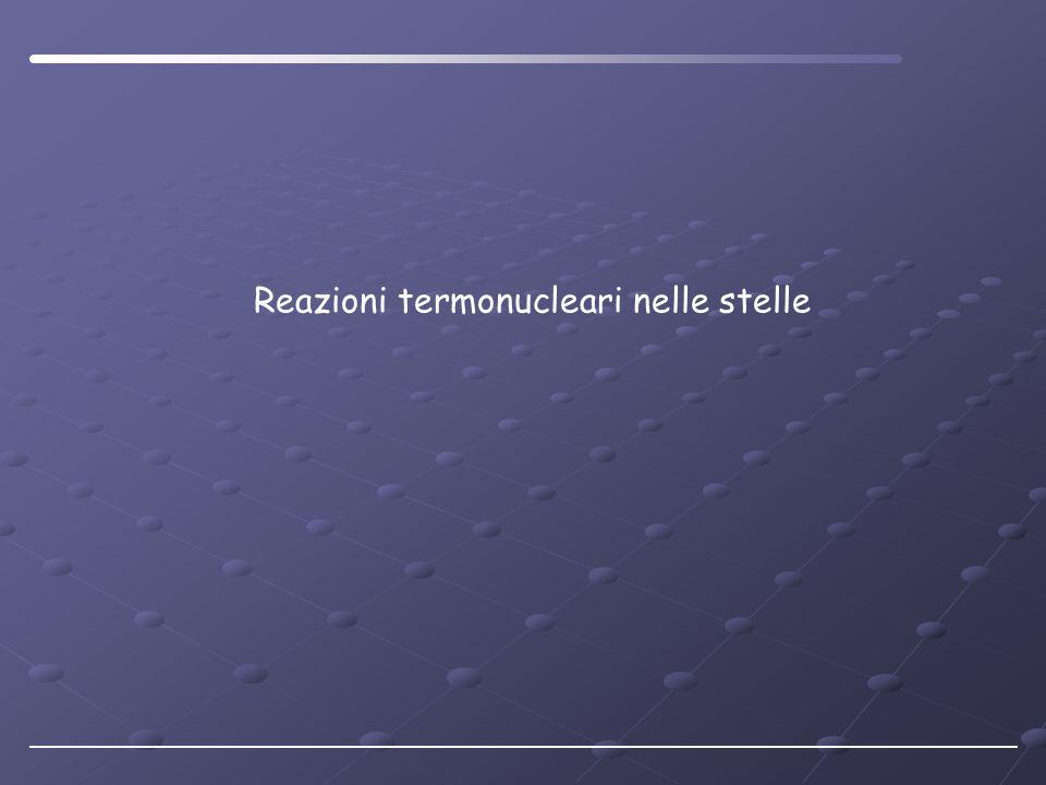 Reazioni termonucleari nelle stelle