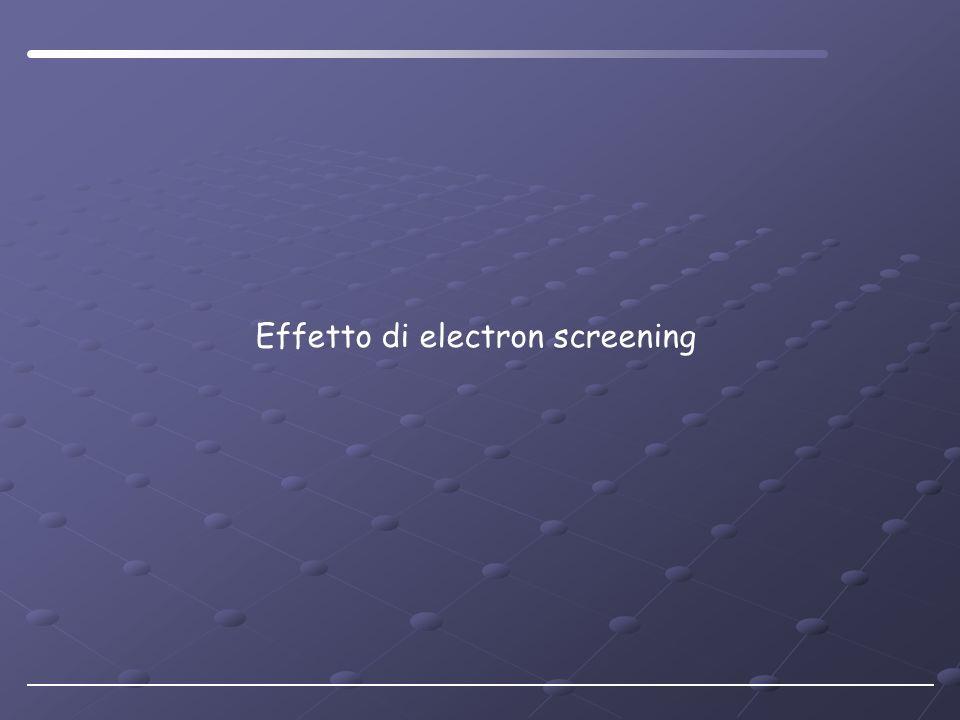 Effetto di electron screening