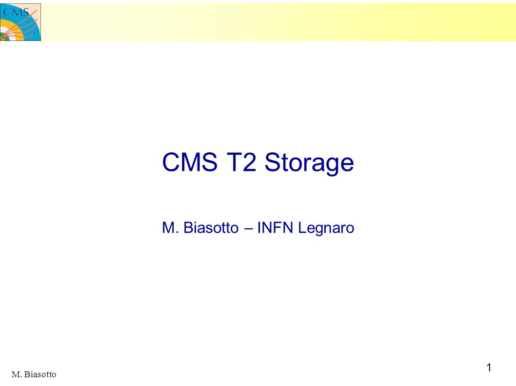 M. Biasotto – INFN Legnaro