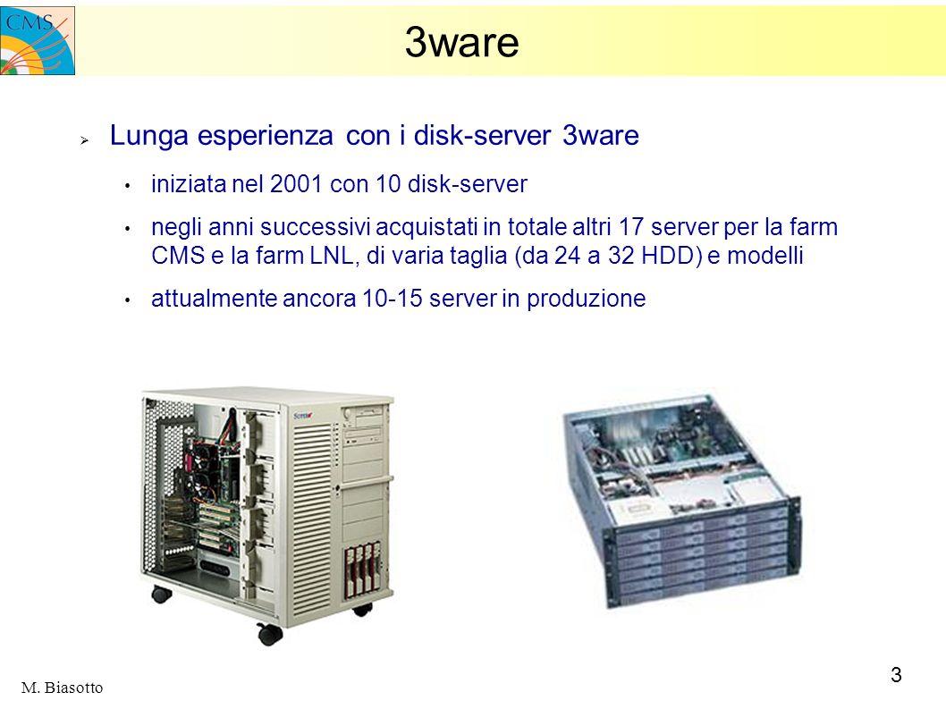 3ware Lunga esperienza con i disk-server 3ware