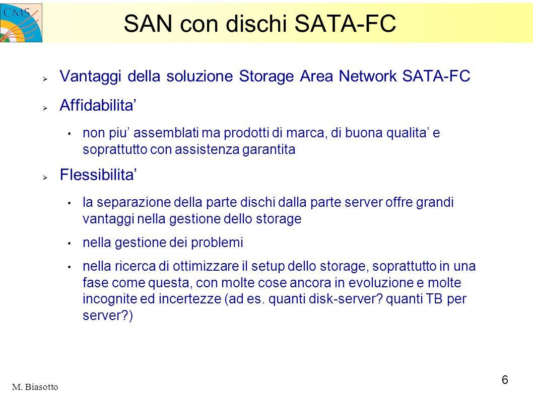 SAN con dischi SATA-FC Vantaggi della soluzione Storage Area Network SATA-FC. Affidabilita'