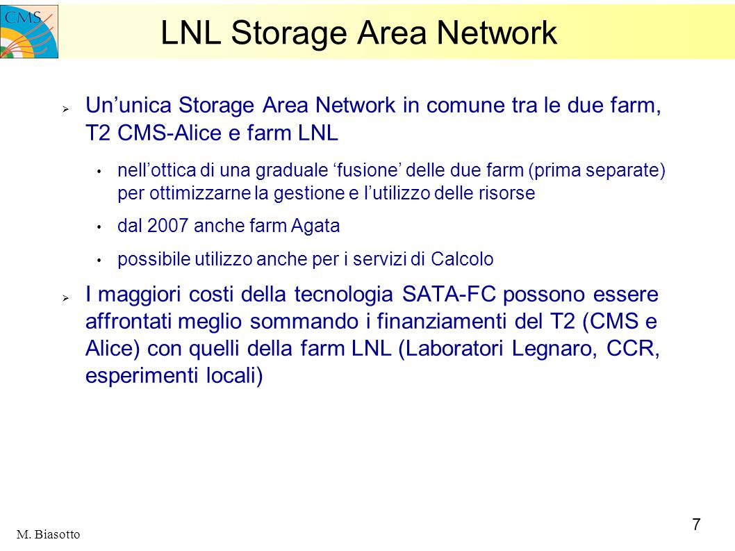 LNL Storage Area Network