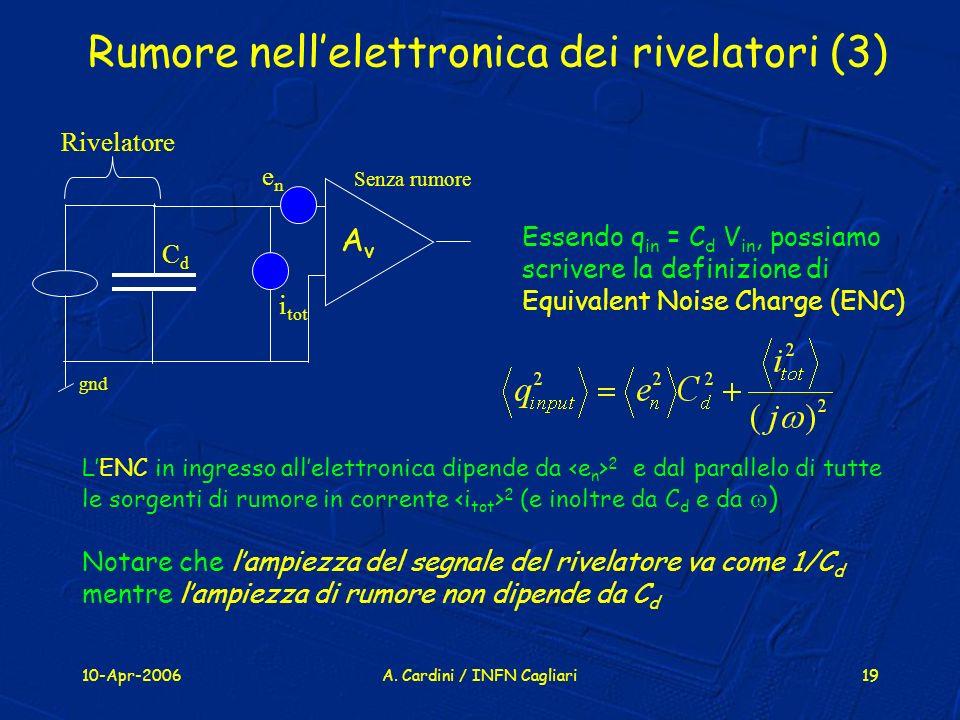 Rumore nell'elettronica dei rivelatori (3)