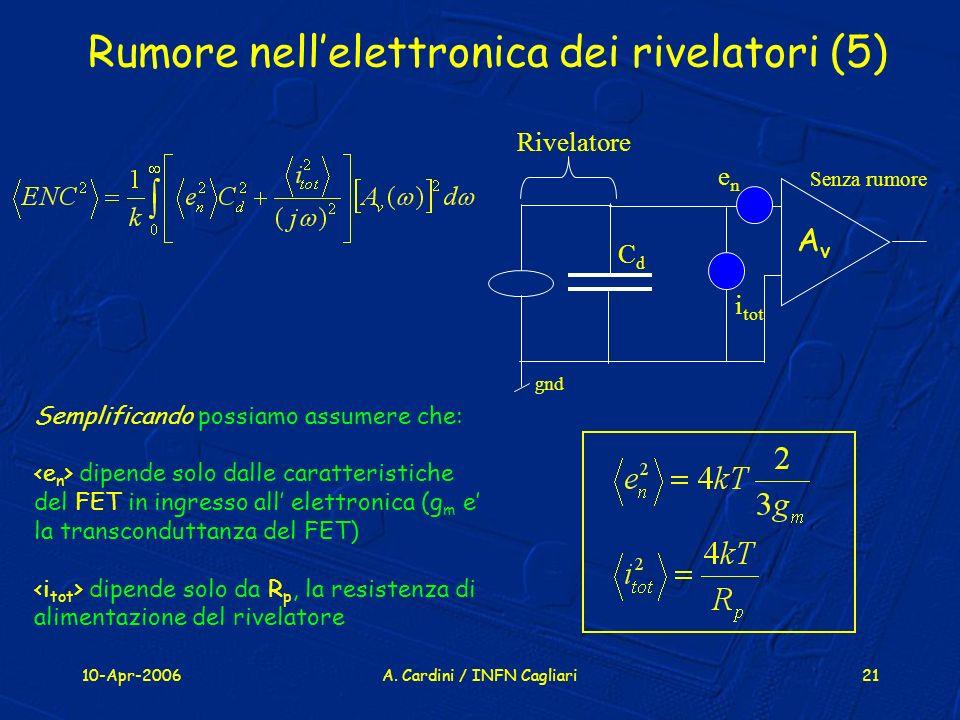 Rumore nell'elettronica dei rivelatori (5)