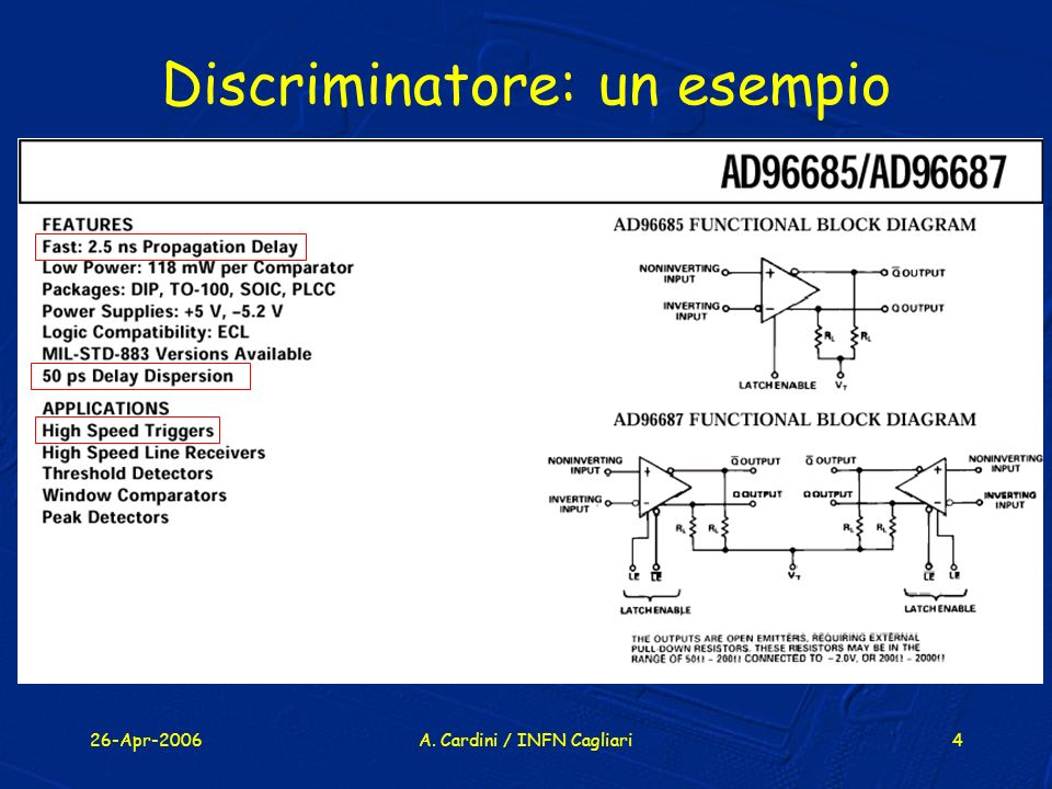 Discriminatore: un esempio