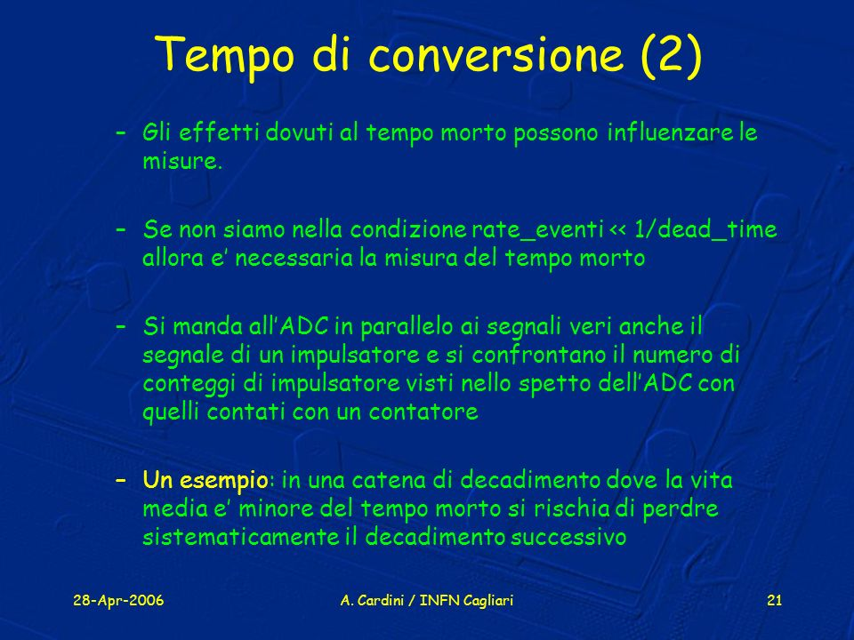 Tempo di conversione (2)