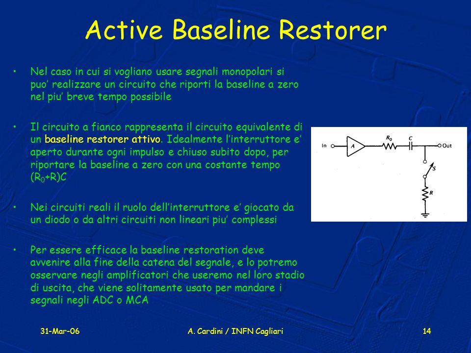 Active Baseline Restorer