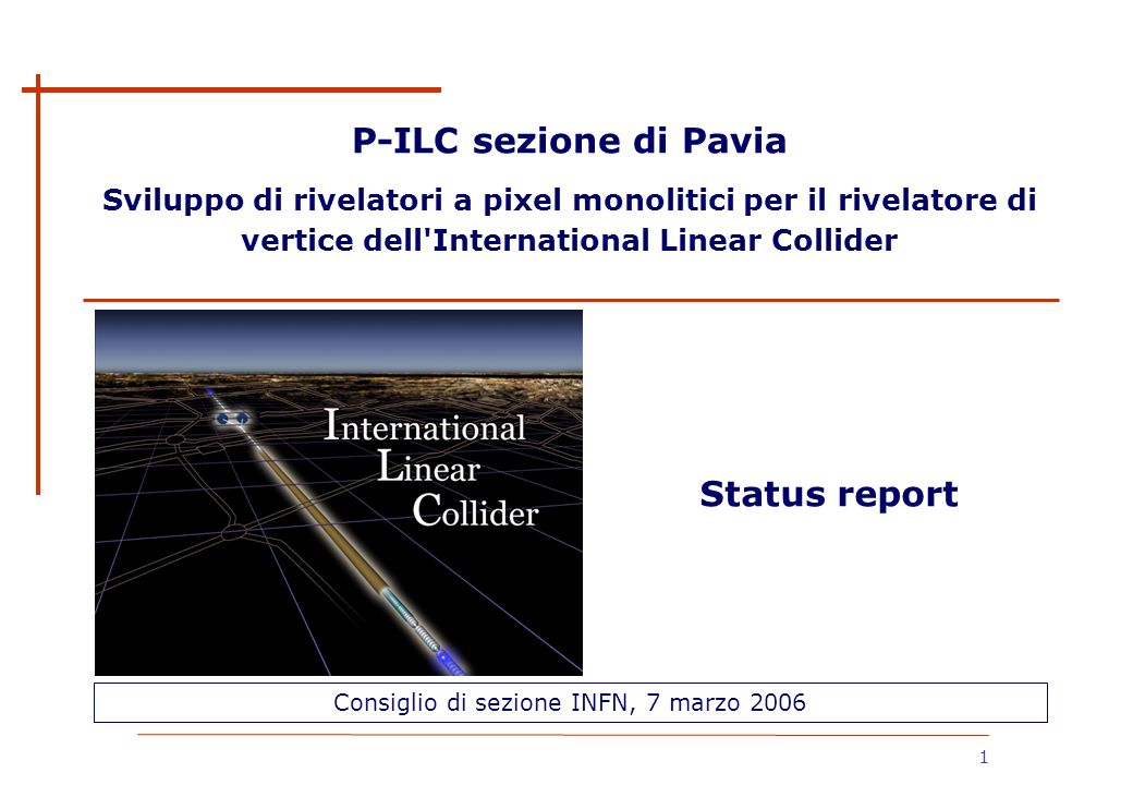 Consiglio di sezione INFN, 7 marzo 2006