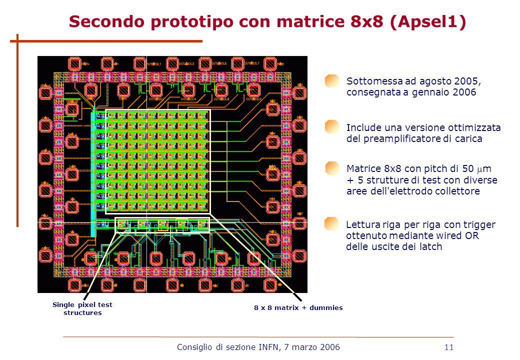 Secondo prototipo con matrice 8x8 (Apsel1)