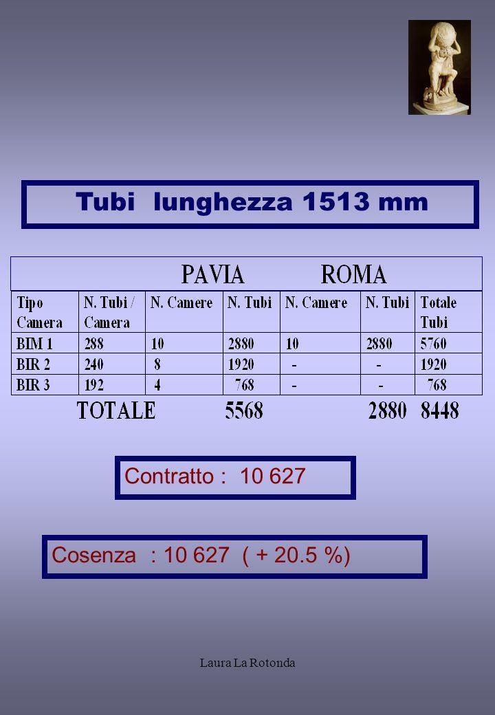 Tubi lunghezza 1513 mm prova Contratto : 10 627
