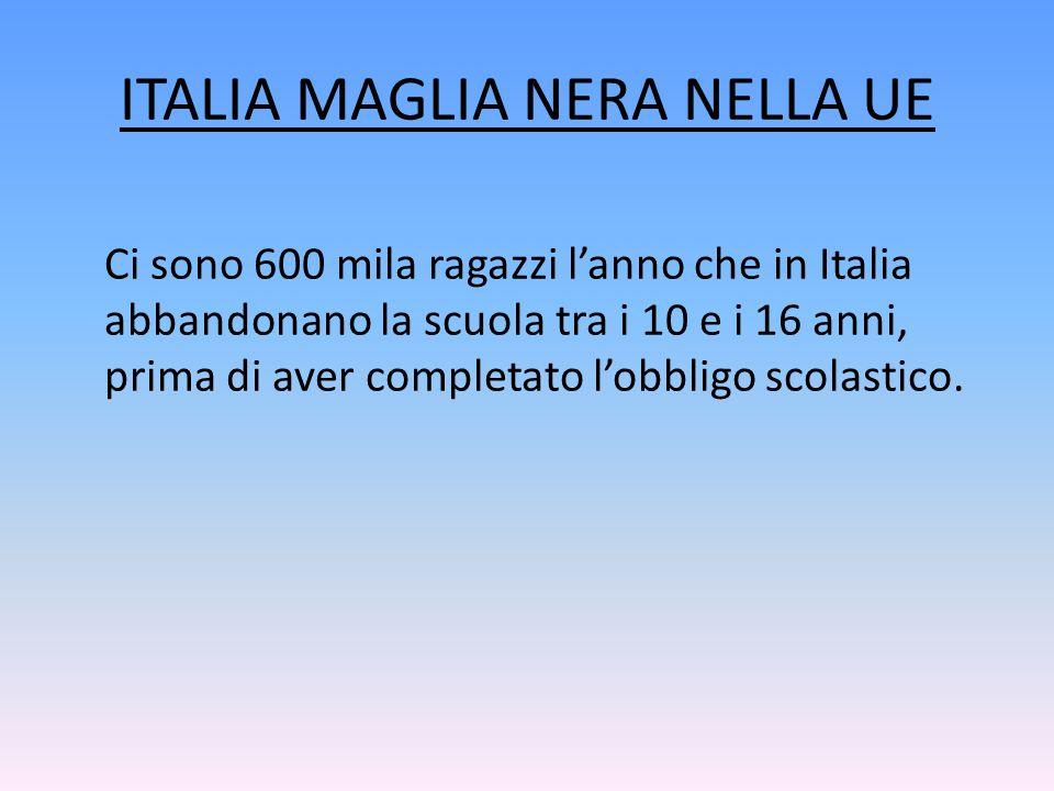 ITALIA MAGLIA NERA NELLA UE