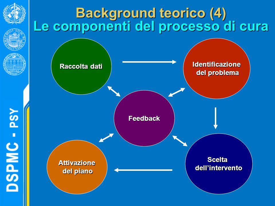 Background teorico (4) Le componenti del processo di cura