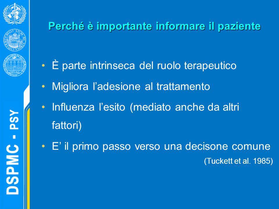 Perché è importante informare il paziente