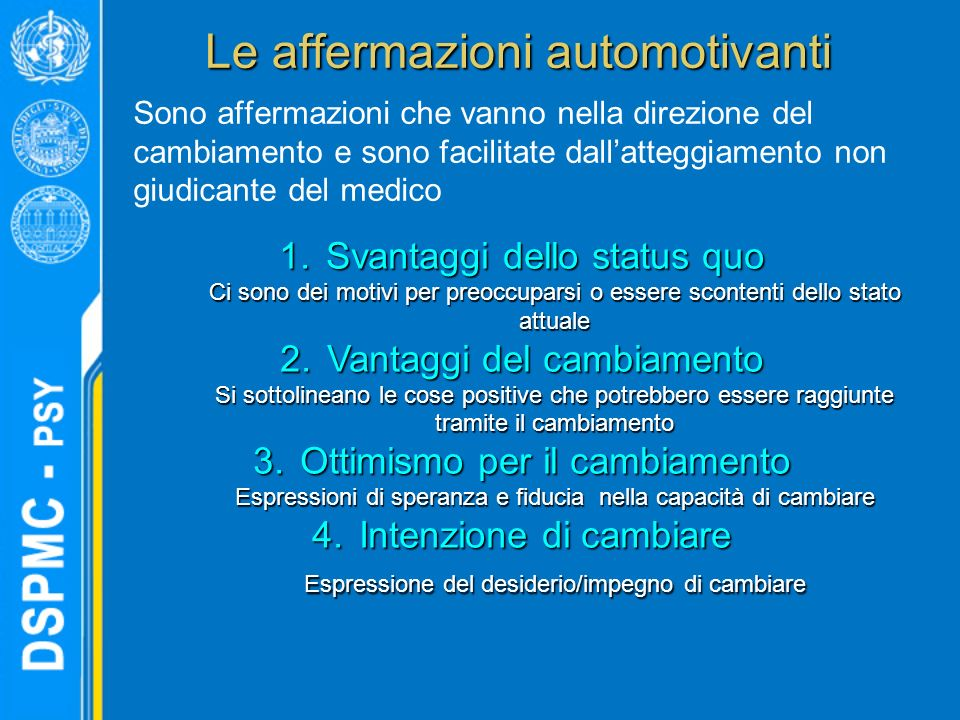 Le affermazioni automotivanti