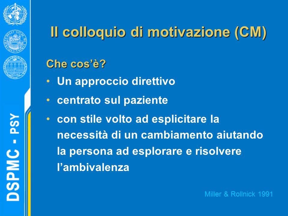 Il colloquio di motivazione (CM)