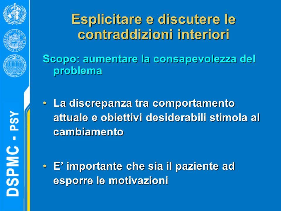 Esplicitare e discutere le contraddizioni interiori