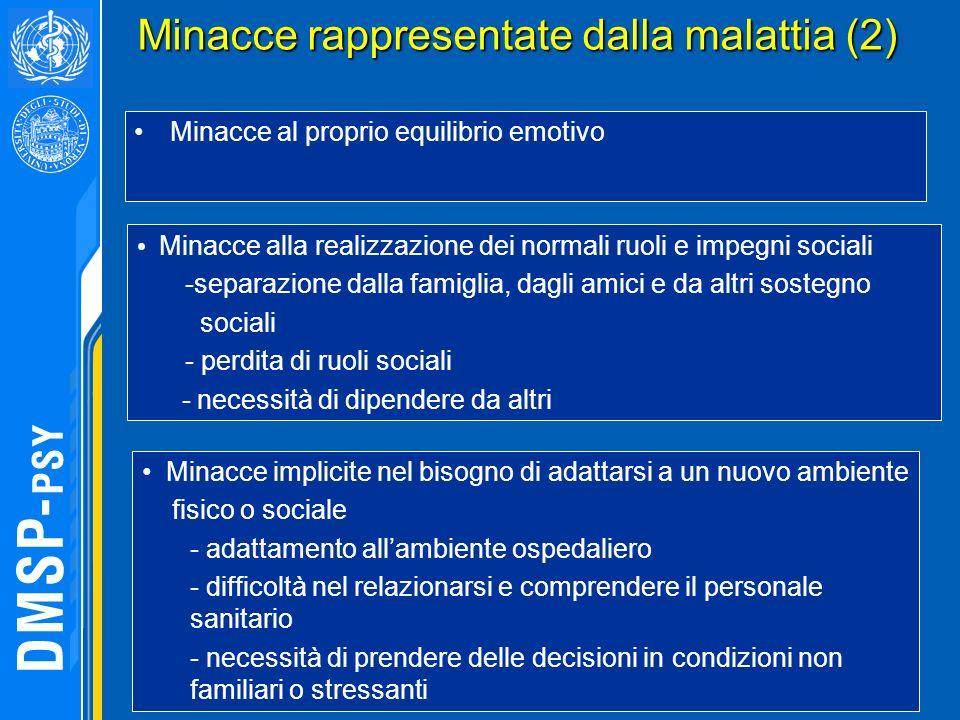 Minacce rappresentate dalla malattia (2)
