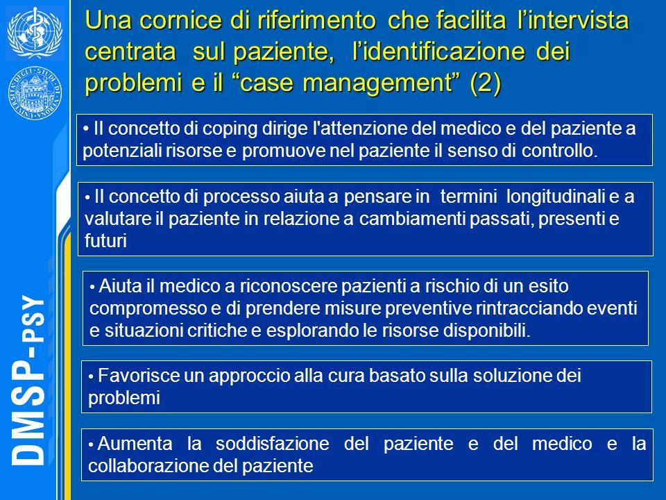 Una cornice di riferimento che facilita l'intervista centrata sul paziente, l'identificazione dei problemi e il case management (2)