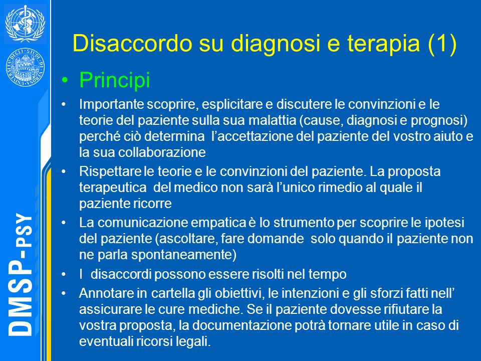 Disaccordo su diagnosi e terapia (1)