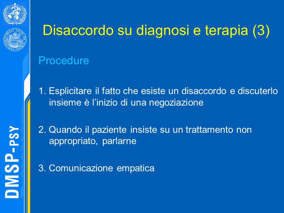 Disaccordo su diagnosi e terapia (3)