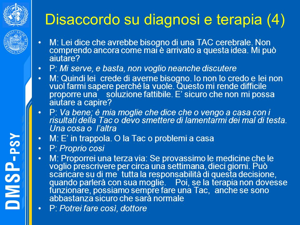 Disaccordo su diagnosi e terapia (4)
