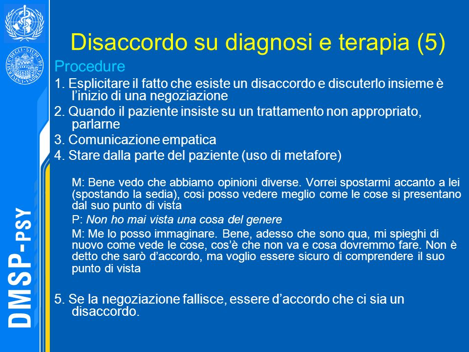 Disaccordo su diagnosi e terapia (5)
