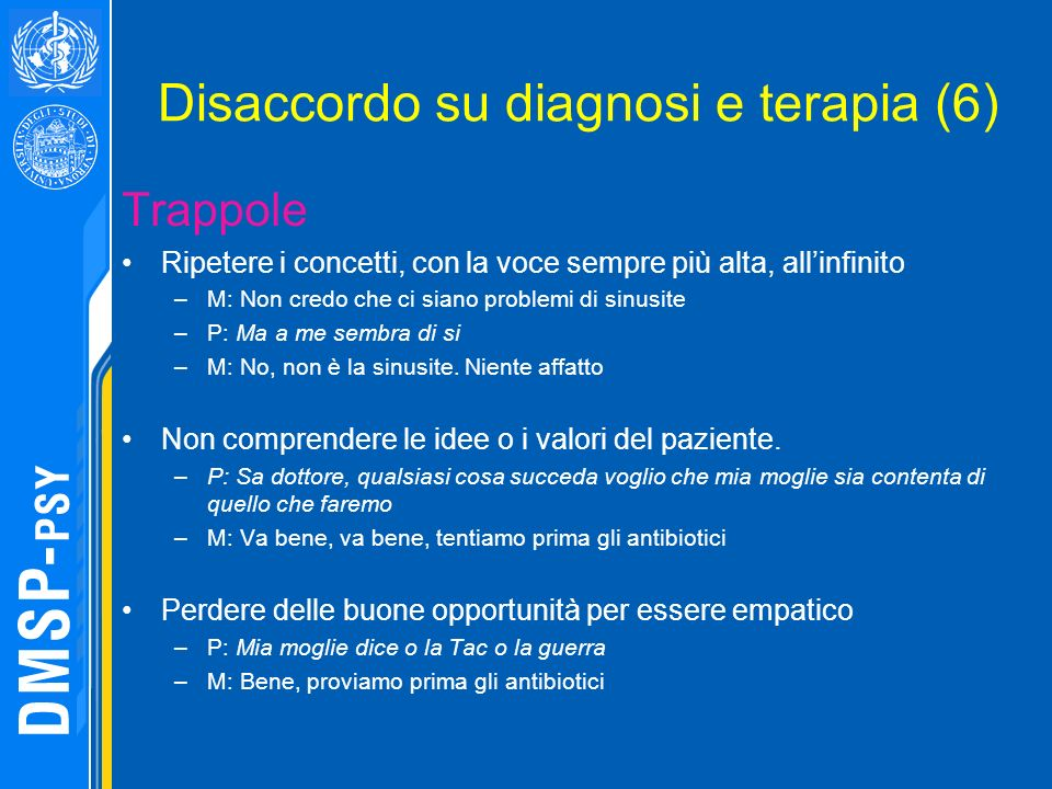 Disaccordo su diagnosi e terapia (6)